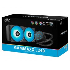 DEEPCOOL Gammaxx L240 RGB AIO Liquid CPU Cooler, SYNC RGB Waterblock and RGB Fans, Motherboard Control, No Wired Controller, AM4 Compatible, 3-Year Warranty
