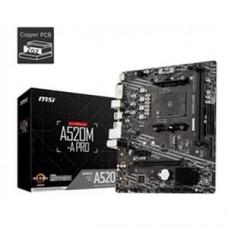 MSI Motherboard A520M-A PRO AMD Socket AM4 Ryzen A520