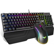 Havit Mechanical Keyboard and Mouse Combo RGB Gaming 104 Keys