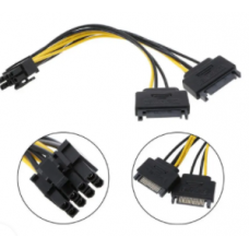 Dual SATA to PCI-E Power Cable 15Pin
